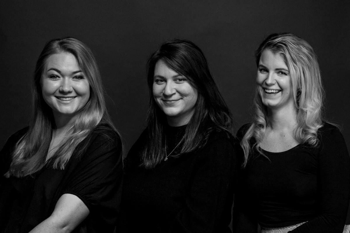 Portrait mit drei Personen: Maria Ratzinger, Anna Heuberger, Sophie Ryba